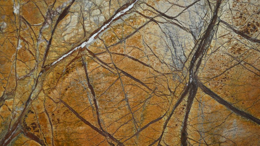 Forest Rain Brown Marble Bathro